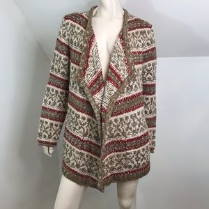 J Jill Sweater Cardigan Chunky Over-sized Wrap